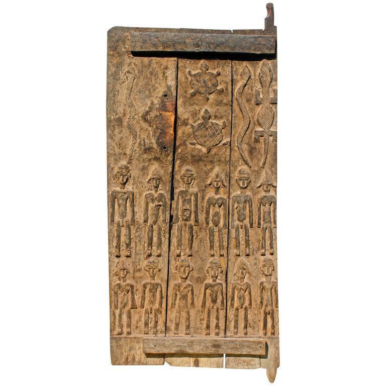 Superb Old Senufo Door Sotheby's Provenance African Sculpture