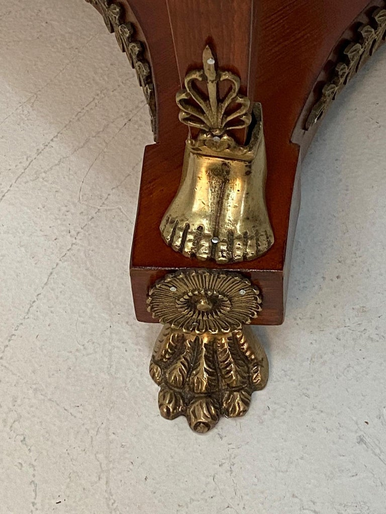 Superb Ornate Pair of Mahogany and Bronze French Empire Style End Tables For Sale 5