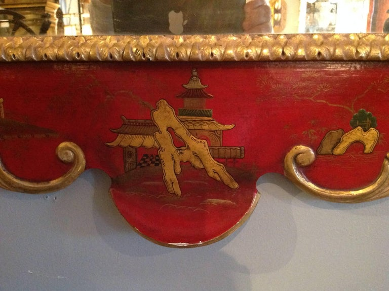 Superb Pair of 19th Century English Chinoiserie Mirrors For Sale 8