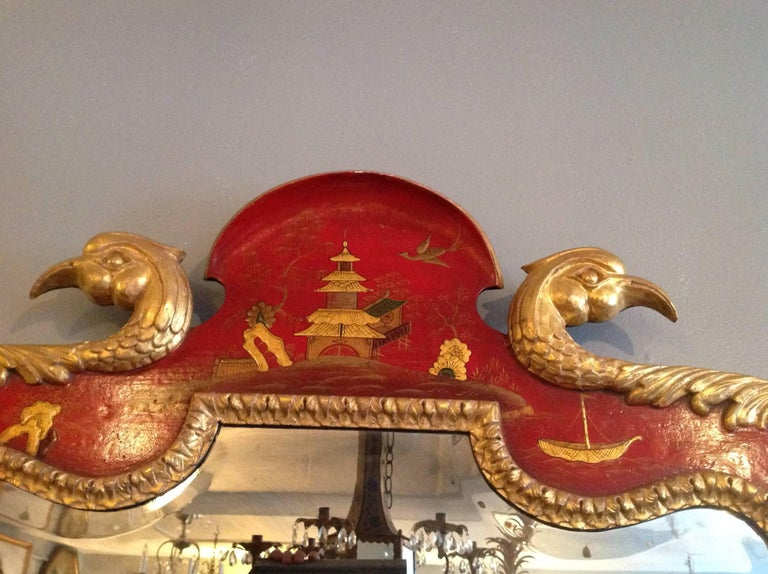 Superb Pair of 19th Century English Chinoiserie Mirrors For Sale 9