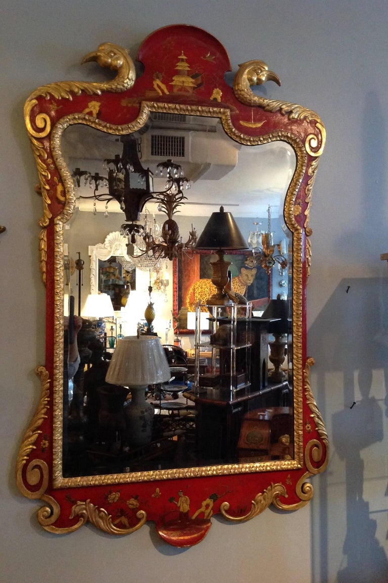 Superb Pair of 19th Century English Chinoiserie Mirrors In Good Condition For Sale In West Palm Beach, FL