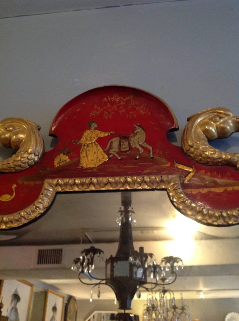 Superb Pair of 19th Century English Chinoiserie Mirrors For Sale 1