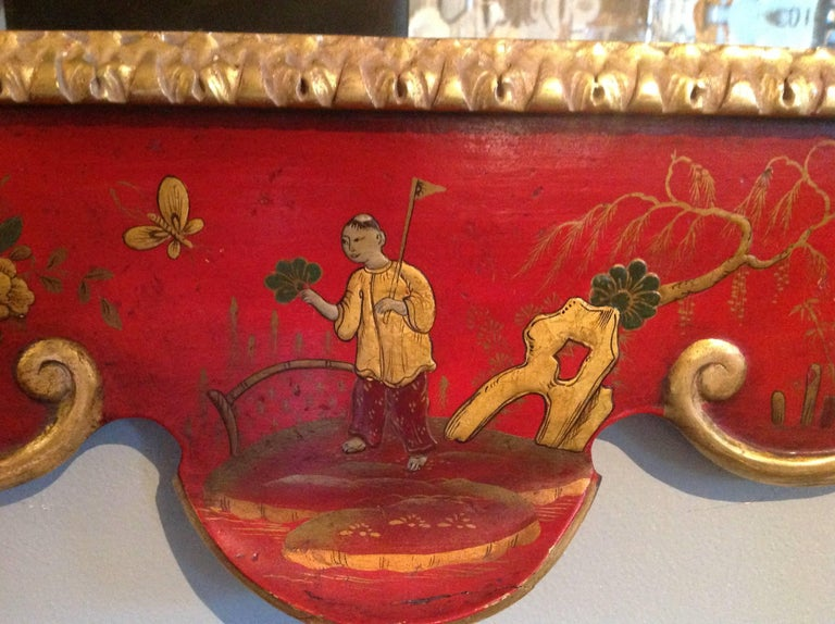 Superb Pair of 19th Century English Chinoiserie Mirrors For Sale 5