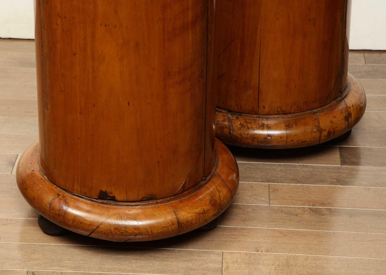 Superb Pair of Austrian Fruitwood, Marble Topped Columns, circa 1830 For Sale 5