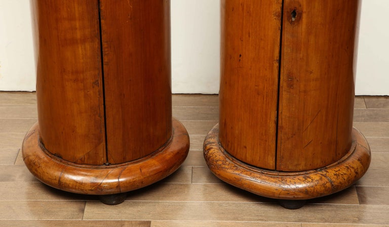 Superb Pair of Austrian Fruitwood, Marble Topped Columns, circa 1830 For Sale 7