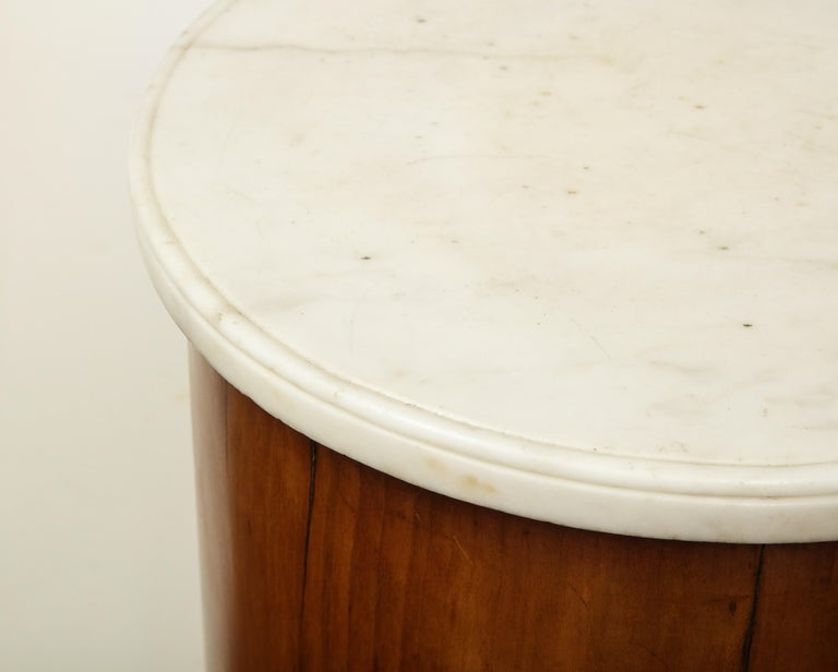 Superb Pair of Austrian Fruitwood, Marble Topped Columns, circa 1830 For Sale 12