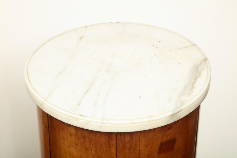 Mid-19th Century Superb Pair of Austrian Fruitwood, Marble Topped Columns, circa 1830 For Sale