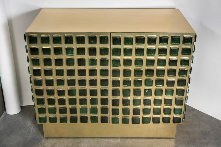 Brass Superb Pair of Cabinets by Studio Glustin For Sale