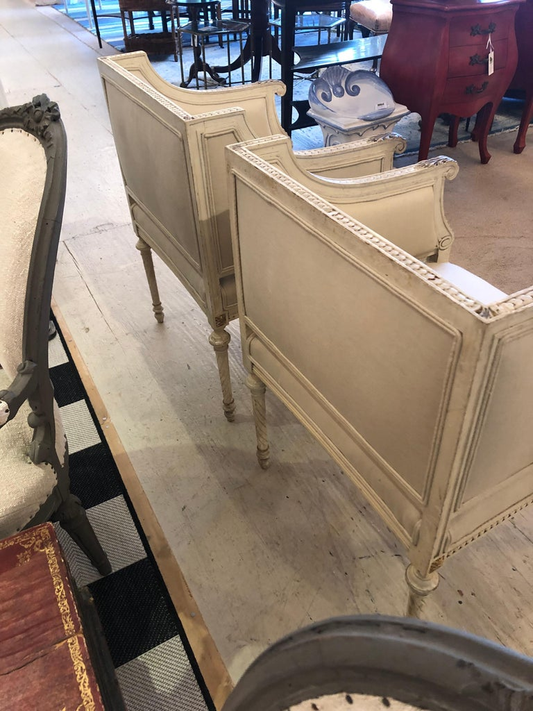 Superb Pair of Paris Square Shaped Club Chairs For Sale 8
