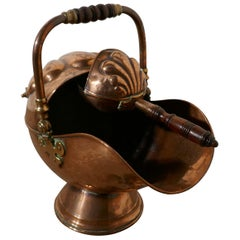 Superb Quality Arts & Crafts Copper Helmet Coal Scuttle