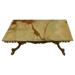 Superb Quality French Brass and Marble Coffee Table