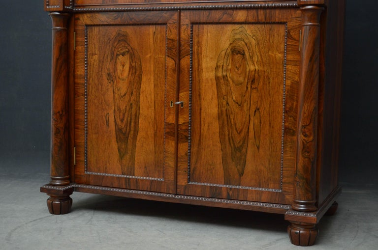 Superb Quality Regency Chiffonier with Secretaire Section For Sale 8