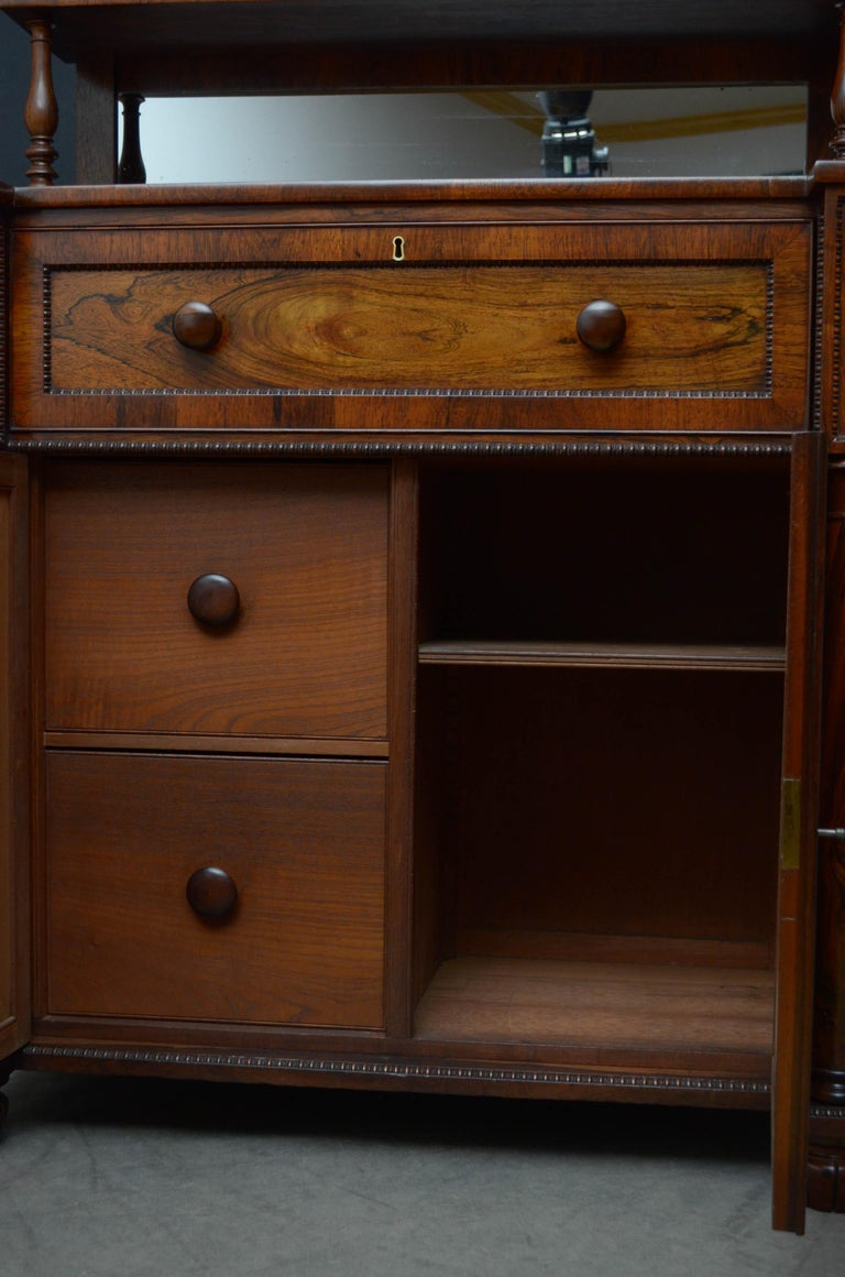 Superb Quality Regency Chiffonier with Secretaire Section For Sale 9