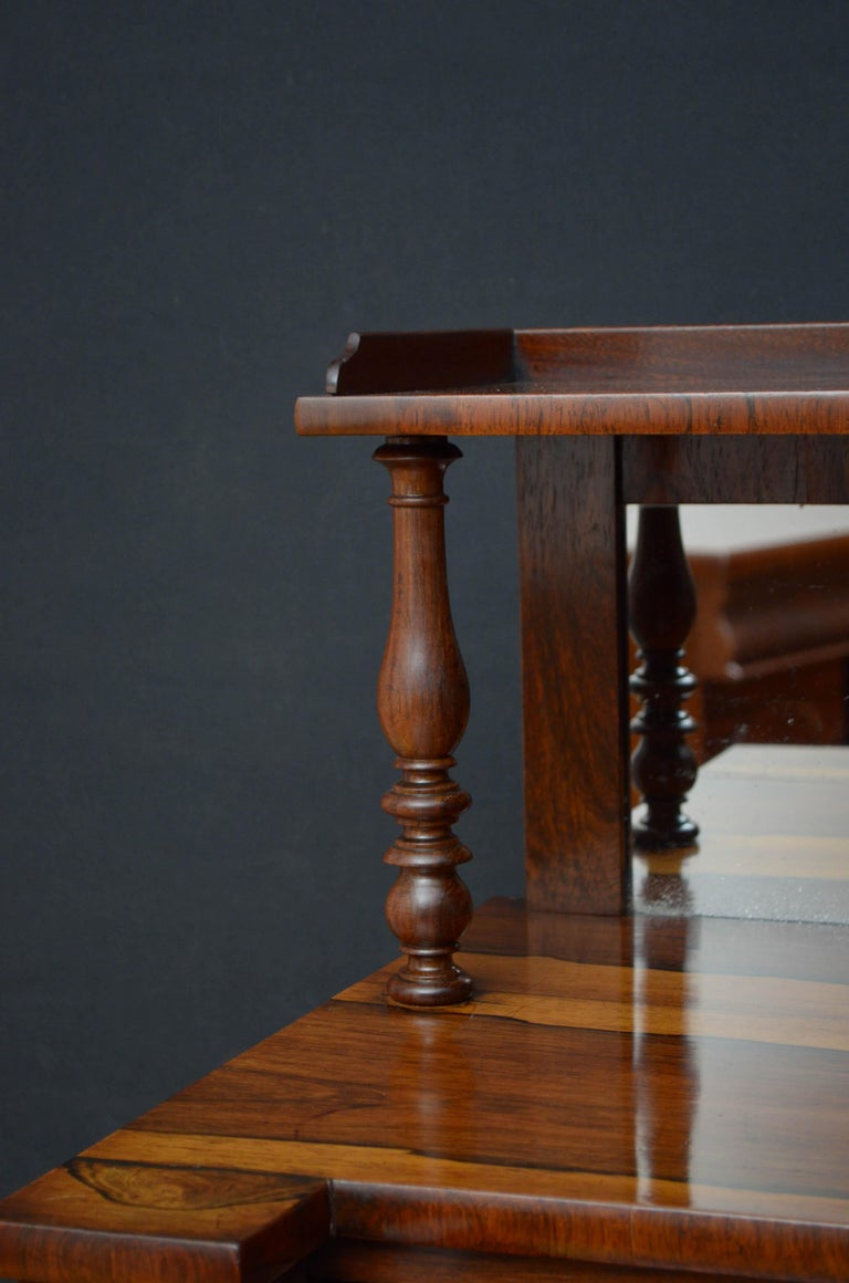 Early 19th Century Superb Quality Regency Chiffonier with Secretaire Section For Sale