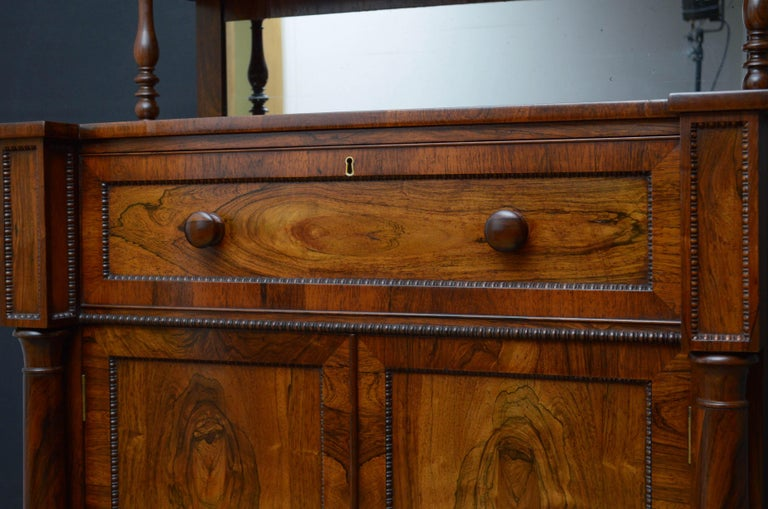 Superb Quality Regency Chiffonier with Secretaire Section For Sale 1