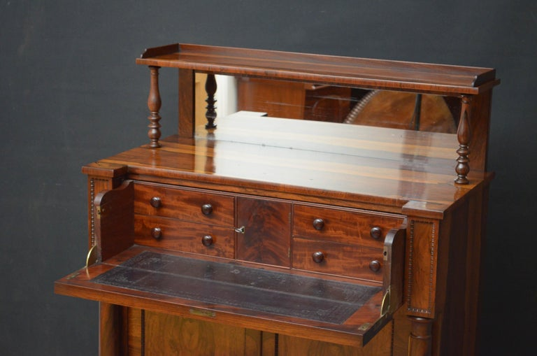Superb Quality Regency Chiffonier with Secretaire Section For Sale 2