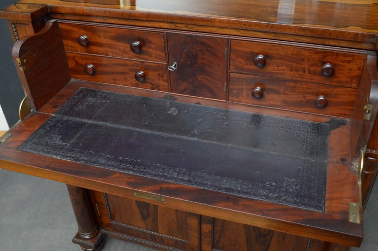 Superb Quality Regency Chiffonier with Secretaire Section For Sale 3