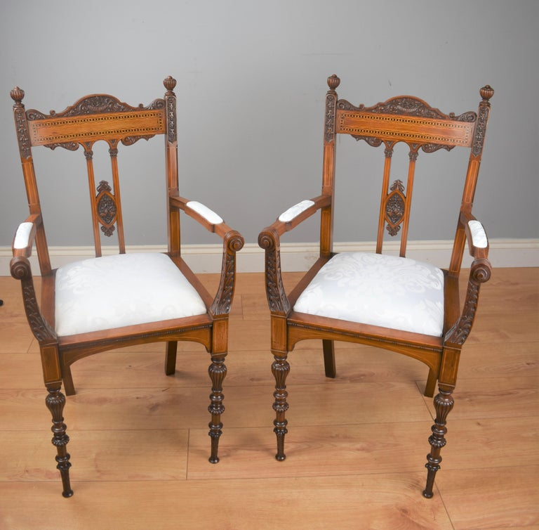 Superb Quality Victorian Mahogany Chairs In Good Condition For Sale In Chelmsford, Essex