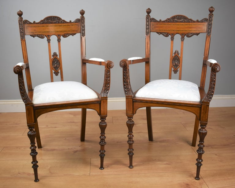 Late 19th Century Superb Quality Victorian Mahogany Chairs For Sale