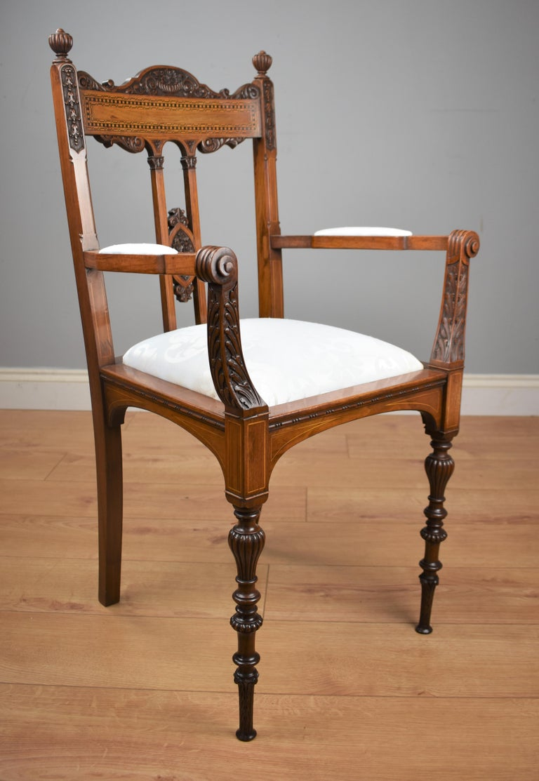 Superb Quality Victorian Mahogany Chairs For Sale 1