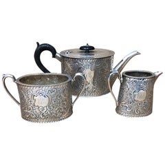 Superb Quality Victorian Silver Plated English Tea Set, circa 1870