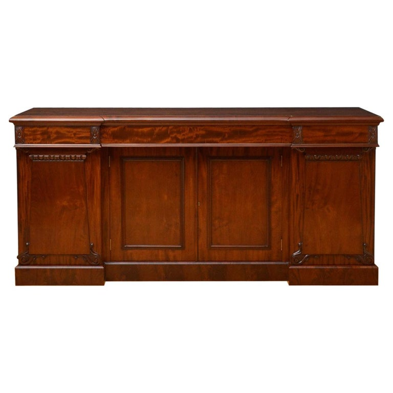 Superb Quality William IV Mahogany Sideboard For Sale