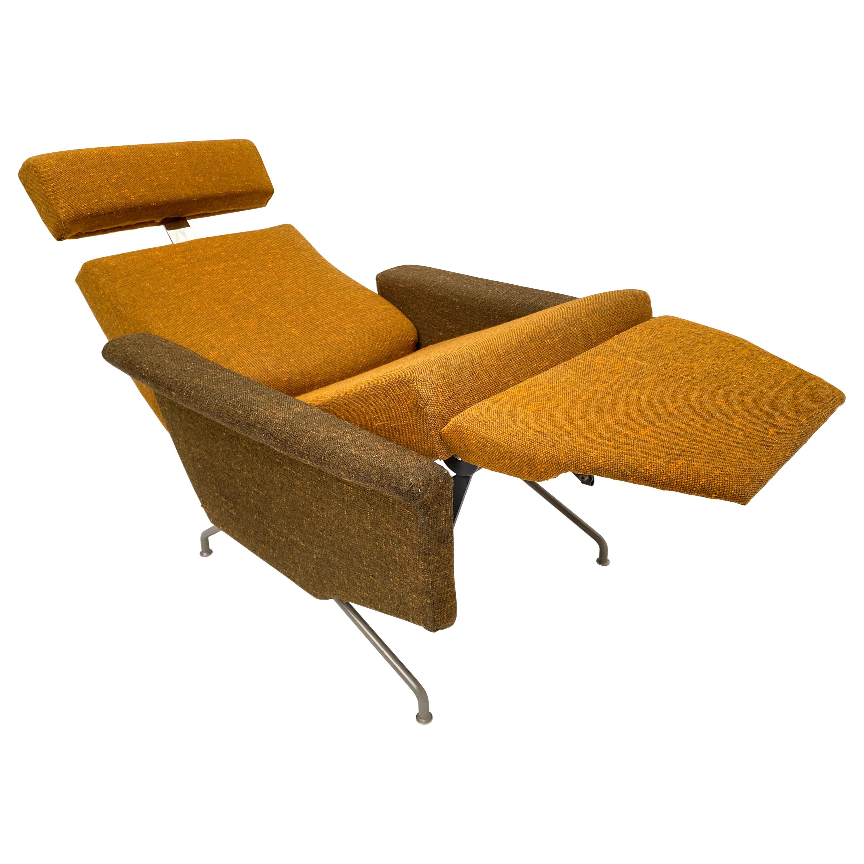 Superb Reclining Lounge Chair by Georges De Rijck for Beaufort Belgium, 1958