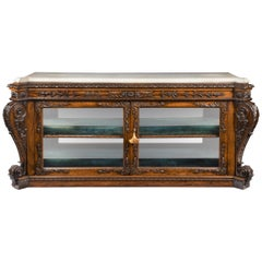 Superb Regency Rosewood Side or Display Cabinet