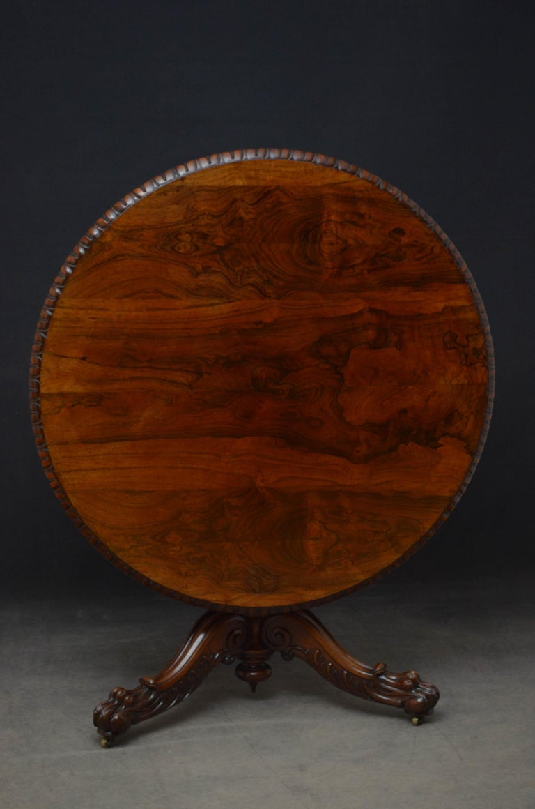 Superb Rosewood Centre Table, Stamped Gillows For Sale 13