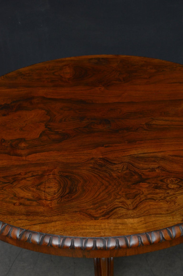 Superb Rosewood Centre Table, Stamped Gillows For Sale 1