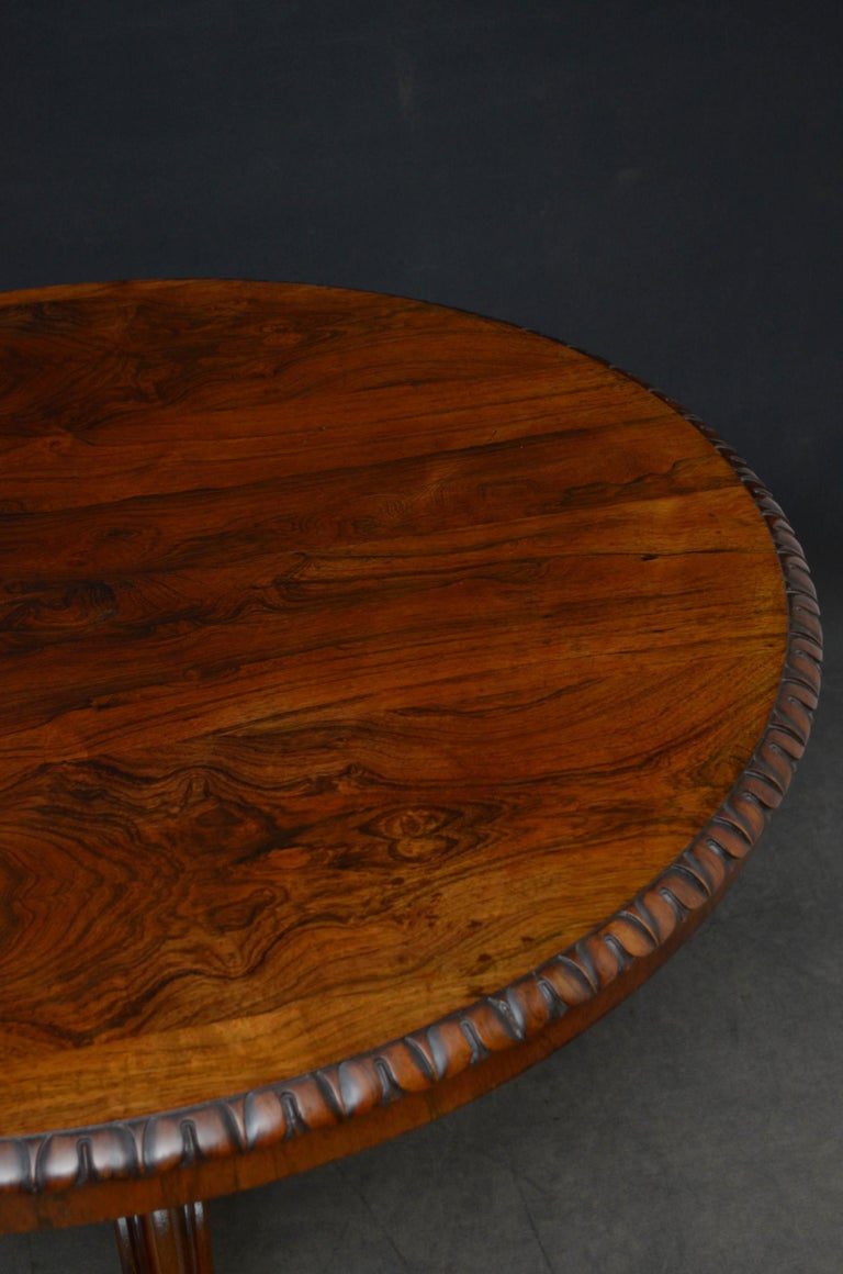 Superb Rosewood Centre Table, Stamped Gillows For Sale 2
