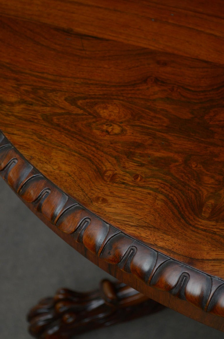 Superb Rosewood Centre Table, Stamped Gillows For Sale 3