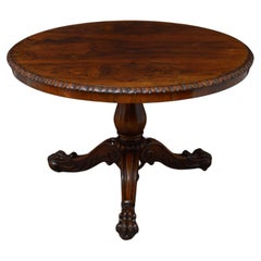 Superb Rosewood Centre Table, Stamped Gillows