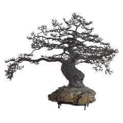 Bronze Sculpture of a Bonsai Oak Tree