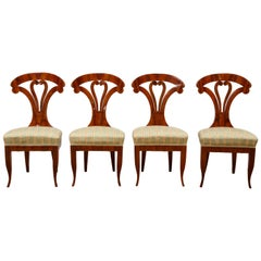Superb Set of 4 Biedermeier Side Chairs, Attributed to Josef Danhauser