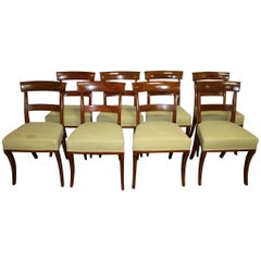 Superb Set of 8 French Dining Chairs, Louis-Philippe Period