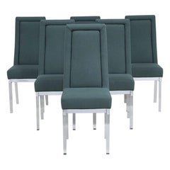 Superb Set of Six Charles Hollis Jones Dining Chairs, 1970s