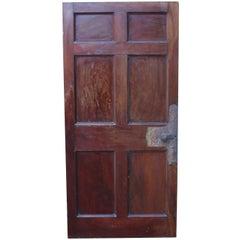 Superb Set of Six English Mahogany Doors, circa 1780