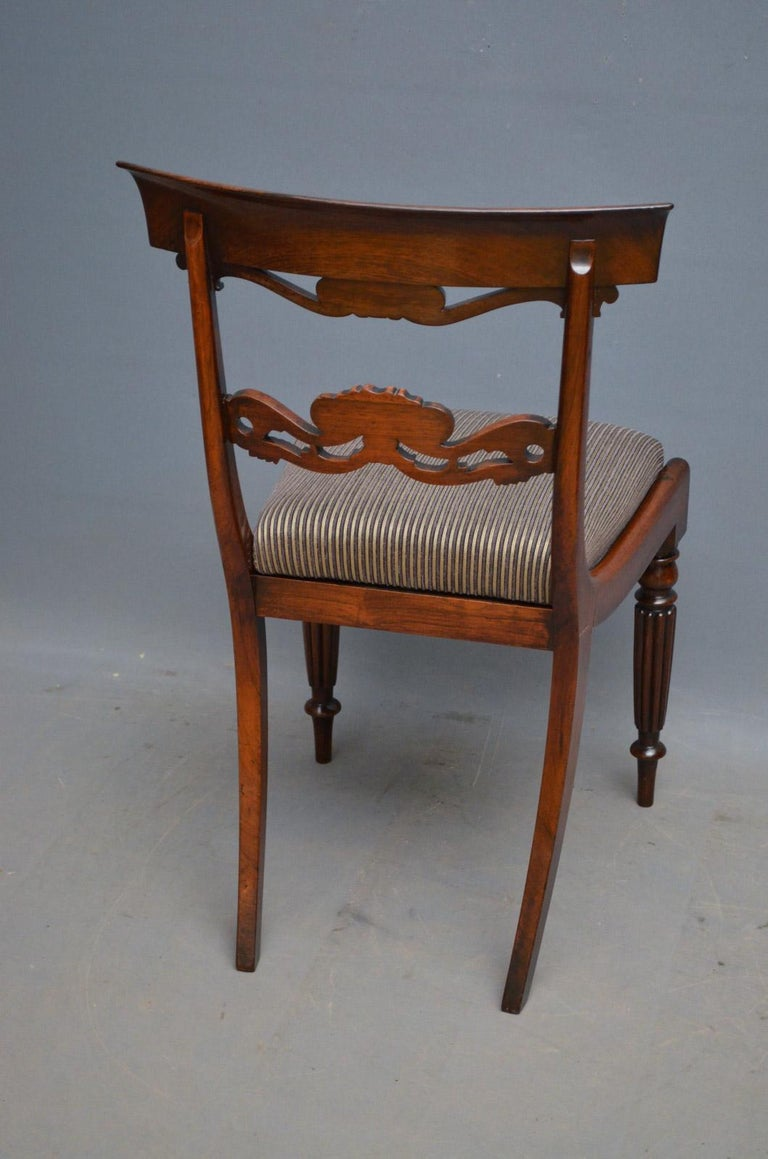 Superb Set of Six William IV Rosewood Dining Chairs For Sale 5