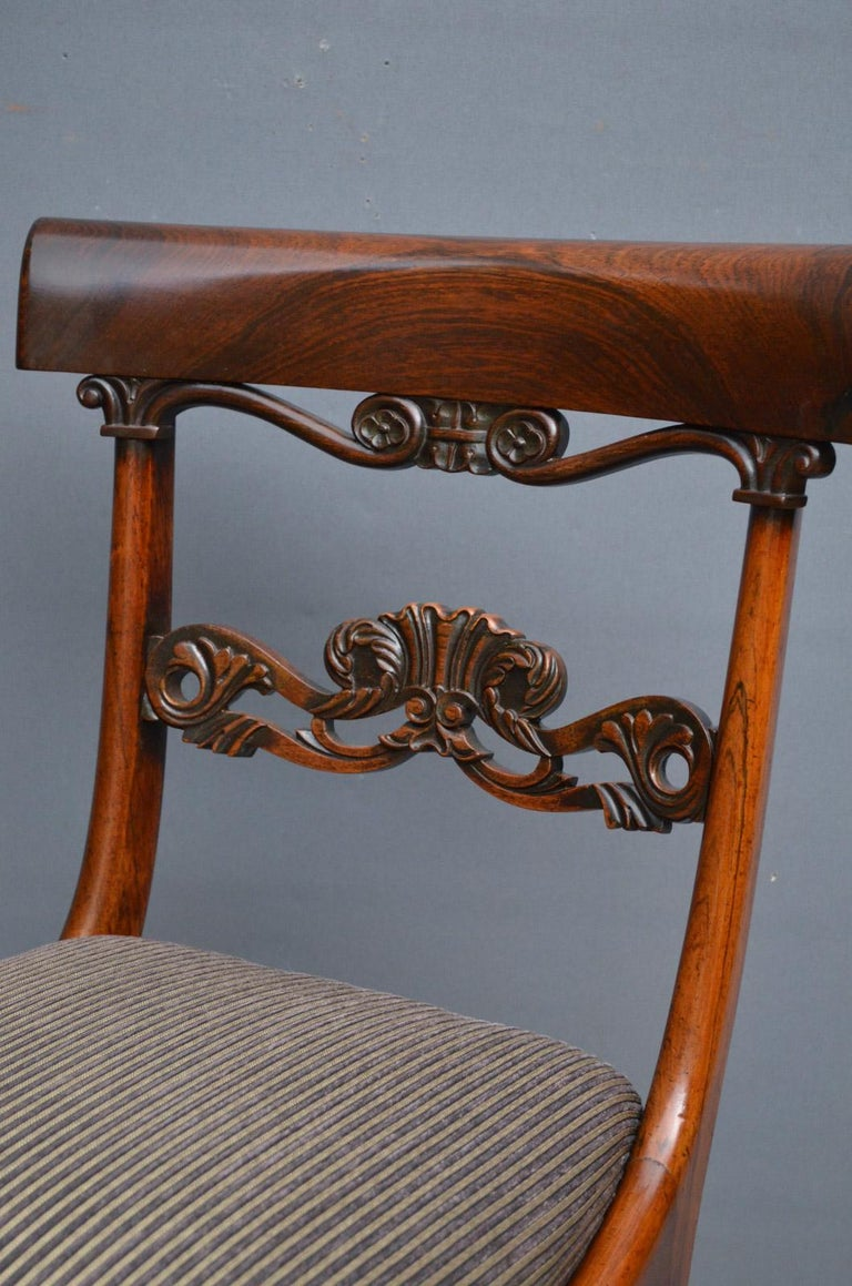 English Superb Set of Six William IV Rosewood Dining Chairs For Sale