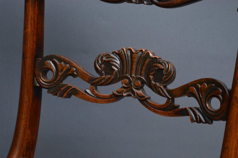 Mid-19th Century Superb Set of Six William IV Rosewood Dining Chairs For Sale
