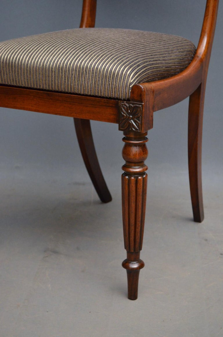 Superb Set of Six William IV Rosewood Dining Chairs For Sale 3