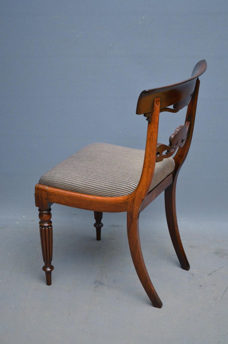 Superb Set of Six William IV Rosewood Dining Chairs For Sale 4