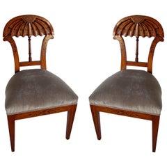Superb Set of Ten Viennese Biedermeier Dining/ Side Chairs, Josef Danhauser