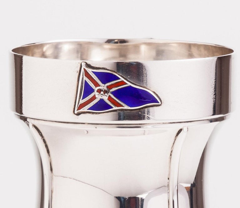 British Superb Silver Tankard with a Nautical Theme, London, 1933 For Sale