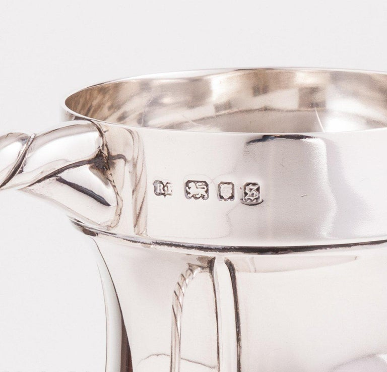 Mid-20th Century Superb Silver Tankard with a Nautical Theme, London, 1933 For Sale