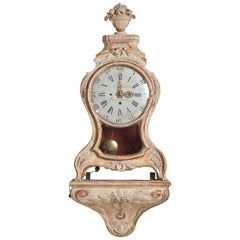 A Superb Swedish Rococo Cartel Clock with Bracket circa 1760