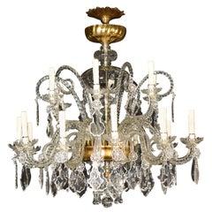 Superb Venetian Glass Chandelier, All Original, circa 1860, 16 Lights