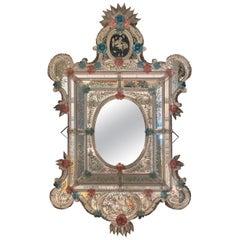 Superb Venetian Murano Glass Mirror
