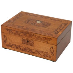 Superb Victorian Bird's-Eye Maple Jewelry Box
